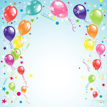 balloon ribbon happy birthday background