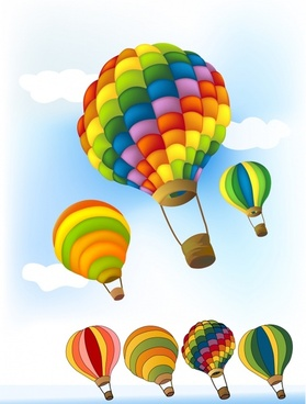 balloons background colorful 3d design
