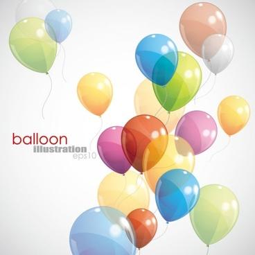 balloons 01 vector