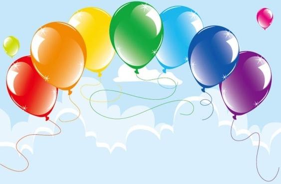 balloons 07 vector