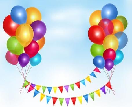 balloons 09 vector