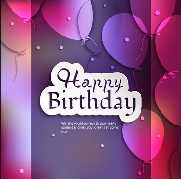 balloons and confetti happy birthday card vector