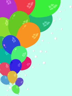 balloons background various colorful rounded shape