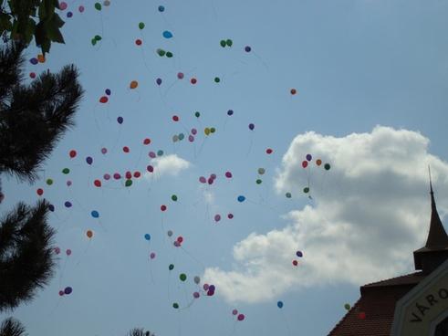 balloons color sky