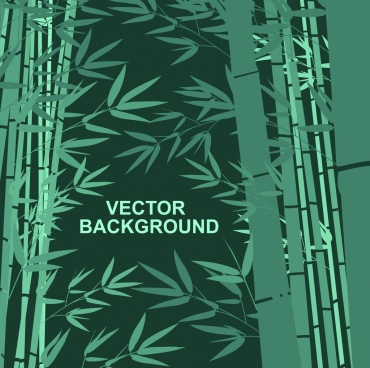 bamboo background dark green tree leaves icons