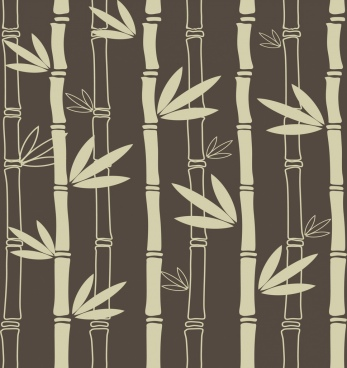 bamboo background flat dark decoration repeating design