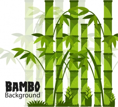 bamboo background green grunge design