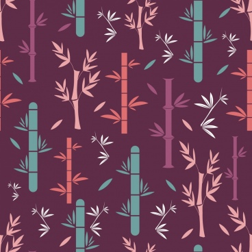 bamboo background multicolored flat repeating design