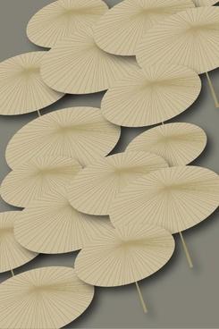 bamboo umbrella background vector