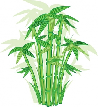 bamboo background bright green design vignette decor