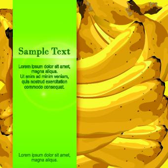 banana background vector graphic