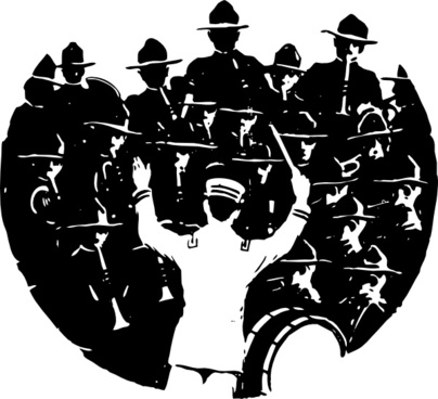 Band And Conductor clip art