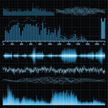 band music audio sound frequency vector