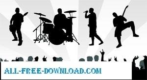 Band Musics Silhouette