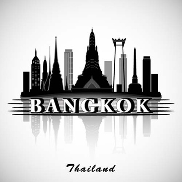 bangkok city background vector