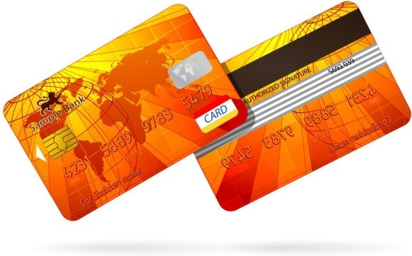 bank card fine 03 vector
