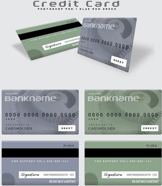 bank savings card templates psd