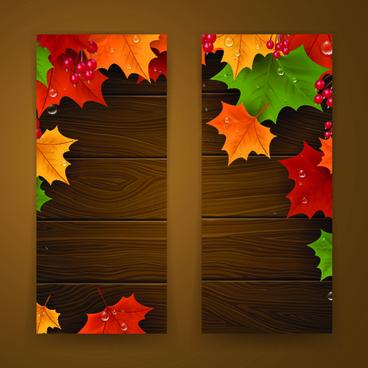 banner autumn design vector