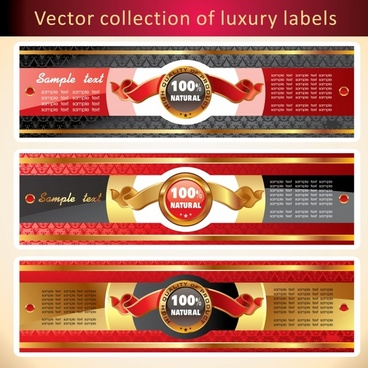 natural labels templates elegant colorful ribbon decor