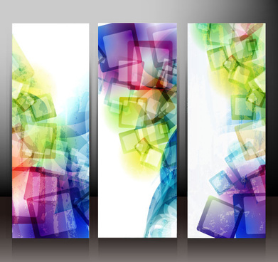 banner design elements abstract of vector