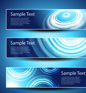 banner design elements abstract vector