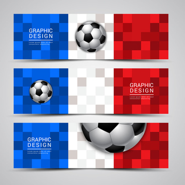 banner euro football cup france 2016 banner