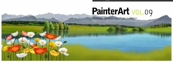banner illustrator landscape psd layered 3
