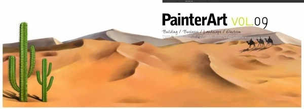 banner illustrator landscape psd layered 6