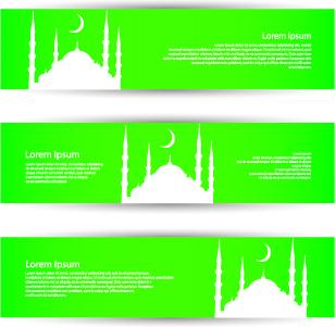 banner of travel elements vector