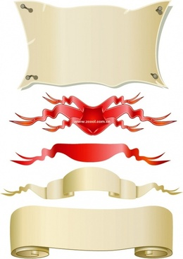 banner paper streamers vector