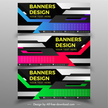 banner templates abstract modern technology design