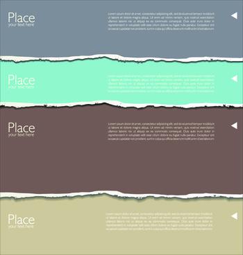 banner torn paper design elements vector