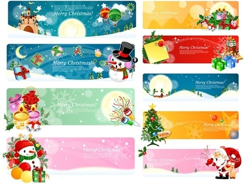 banner vector christmas theme