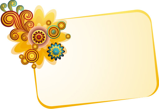 banner with flower vector graphic