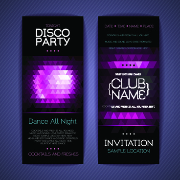 banners disco party creative vector