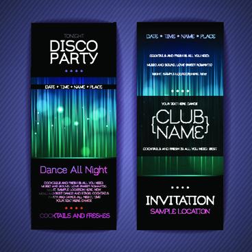 banners disco party creative vector