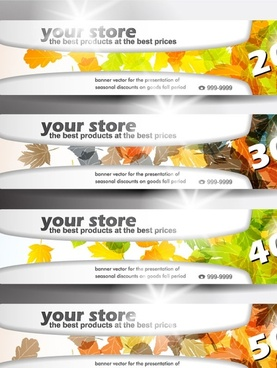 banners of various themes 01 vector