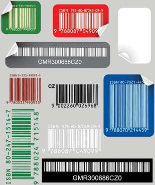 bar code sticker vector