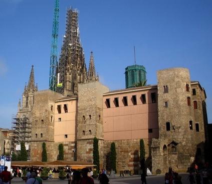 barcelona spain sky