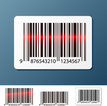 barcode design elements vector set