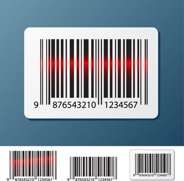 barcode scanning black and white vector