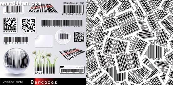 barcode design elements modern design stripes grunge decor