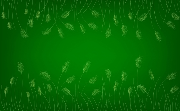 barley background green design repeating handdrawn sketch