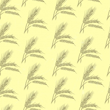 barley background handdrawn design repeating decoration