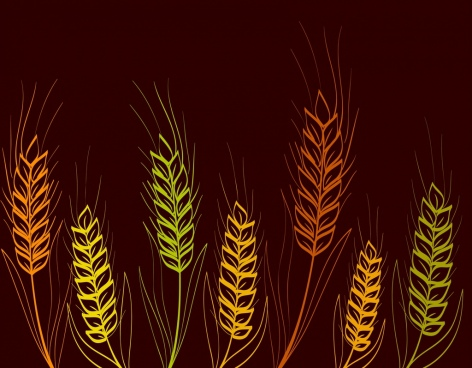 barley background multicolored dark design handdrawn sketch