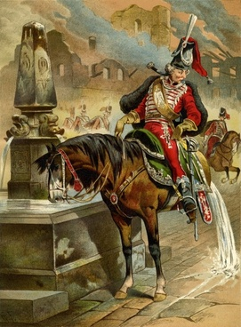 baron munchausen the horse at the fountain tall tales