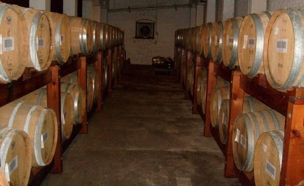 barrels of brandy