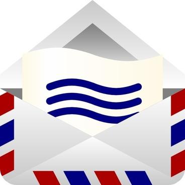 Barretr Air Mail Envelope clip art