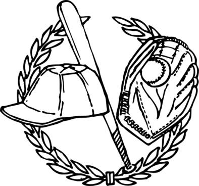 Baseball Crest clip art