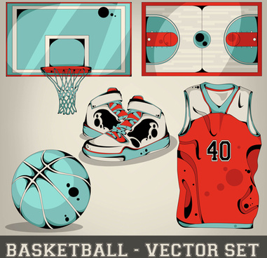 baseball elements design vector set